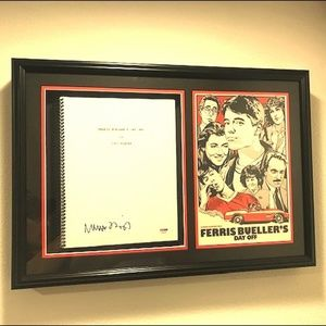 Other - SIGNED Ferris Bueller's Day Off Movie Script COA